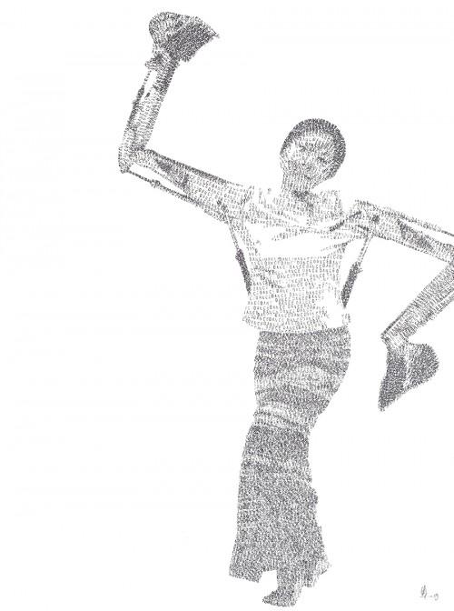 Diggers dance 56 x 76 cm